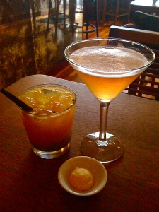 The Apple-pie-tini, and some passionfruit cocktail