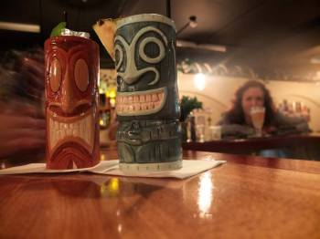 Did you know that the way to indicate to your bartender that your tiki cup is empty is to lay the straw across the top of the cup?